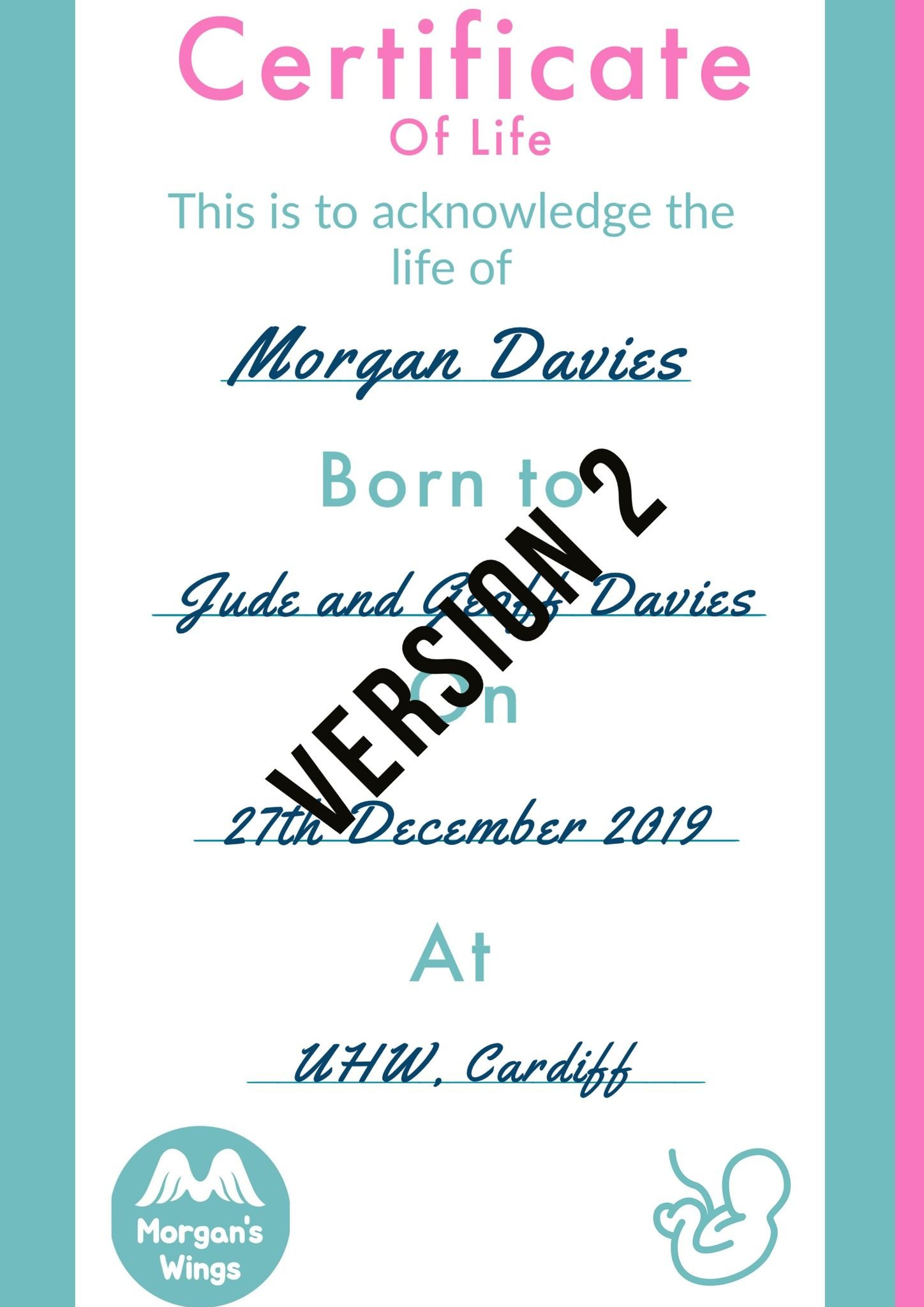 Certificate version 2